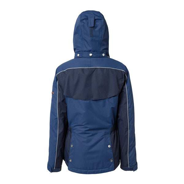 Mountain Horse Amber Jacket Navy Studio Rear View Hood Up 03214