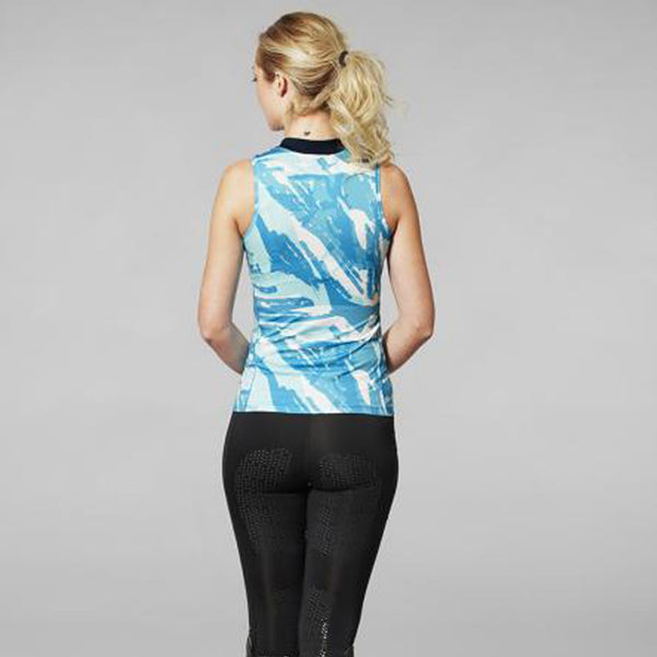 Mountain Horse Breeze Tech Top in Blue Lifestyle Back 04311