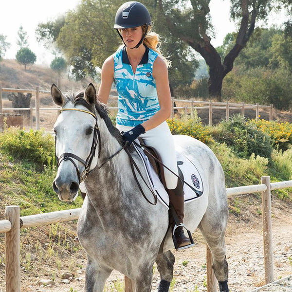 Mountain Horse Breeze Tech Top in Blue Lifestyle Horse Riding 04311