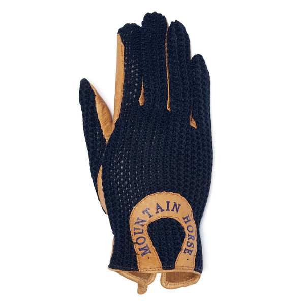 Mountain Horse Crochet Glove II Jr in Navy