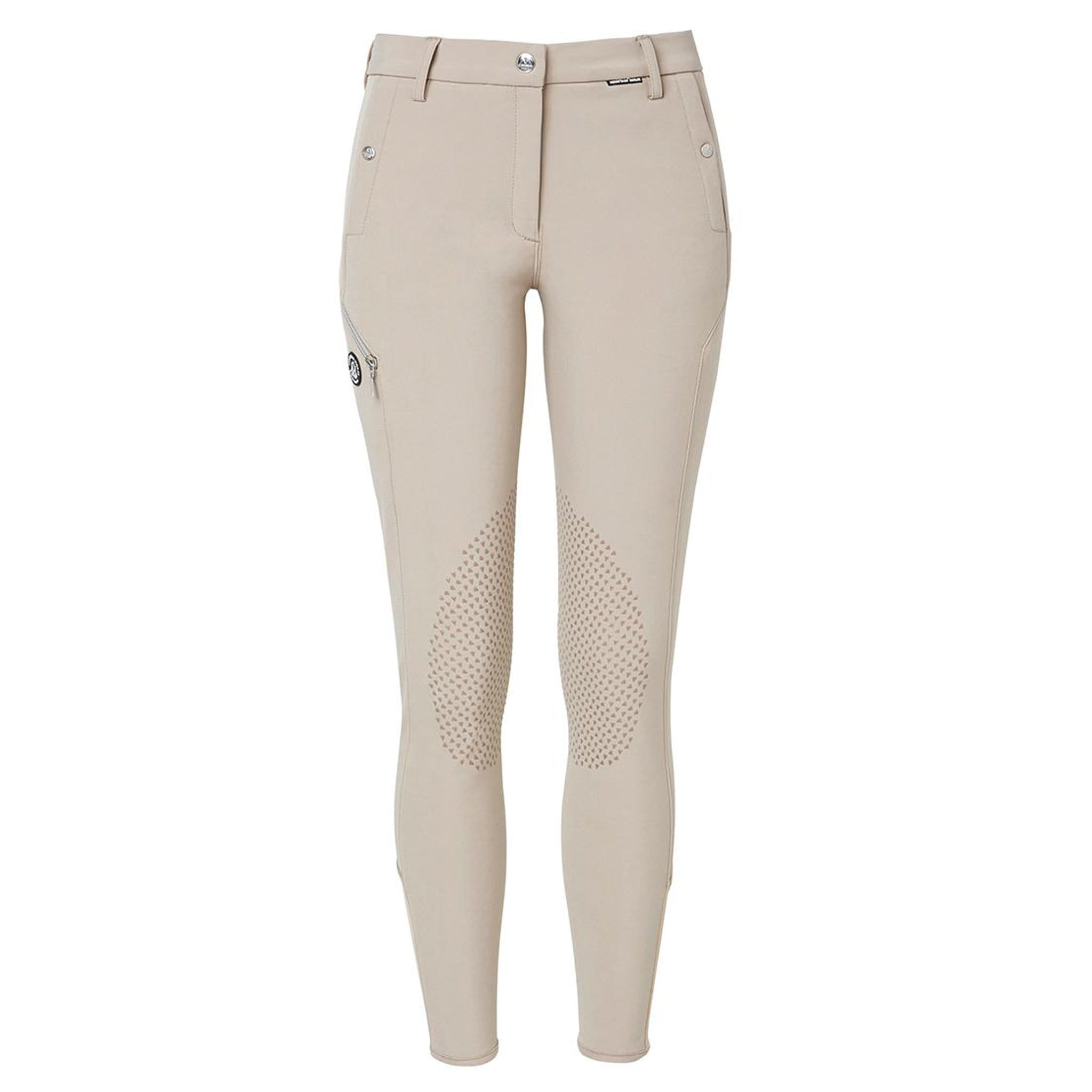 Mountain Horse Frost Tech Breeches Beige Front View 05269