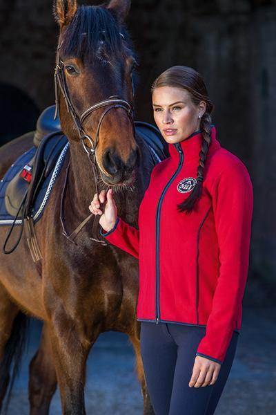 Mountain Horse Lara Fleece - XS / Royal Red | EQUUS
