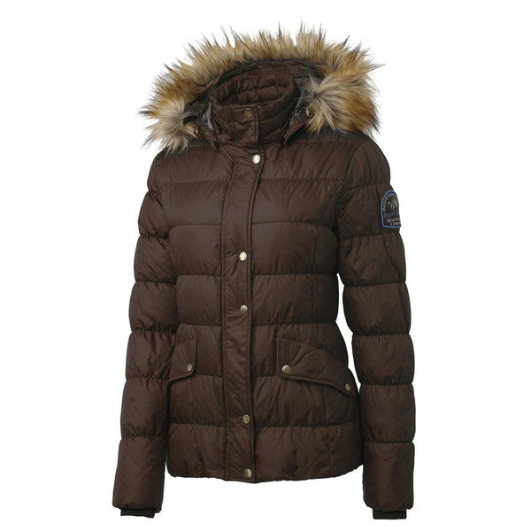 Mountain Horse Lauren Down Jacket in Brown Front