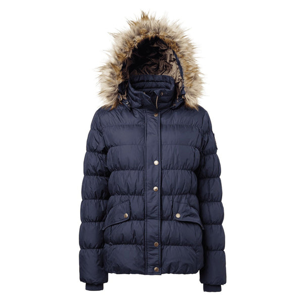 Mountain Horse Lauren Down Jacket Deep Blue Hood Up 03251