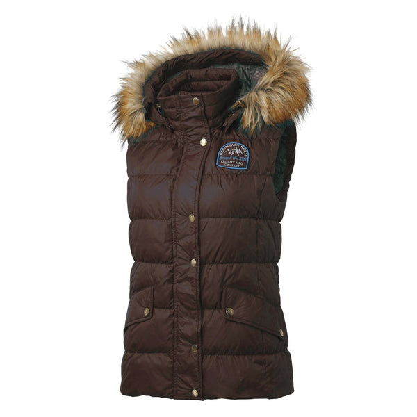 Mountain Horse Lauren Down Vest in Brown Front