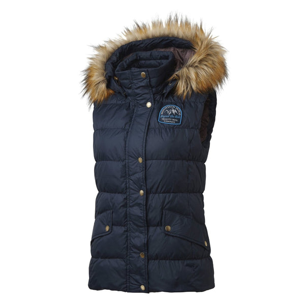 Mountain Horse Lauren Down Vest in Navy Front