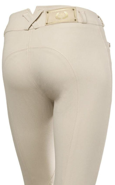 Mountain Horse Lauren Ladies Competition Breeches in Light Beige Rear View