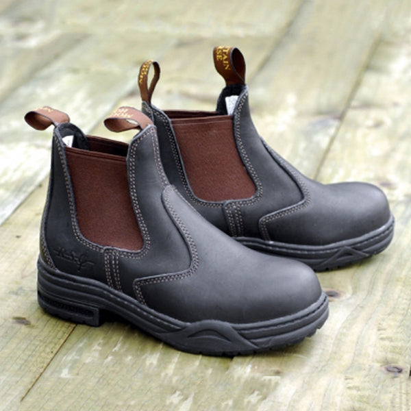 Mountain Horse Protective Jodhpur Boot On Decking 01070