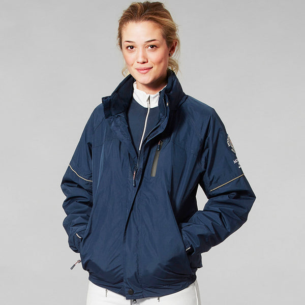 Mountain Horse Team Jacket Navy Studio Female Model Front View 03202