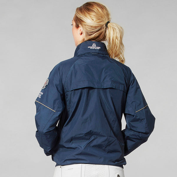 Mountain Horse Team Jacket Navy Studio Female Model Rear View 03202