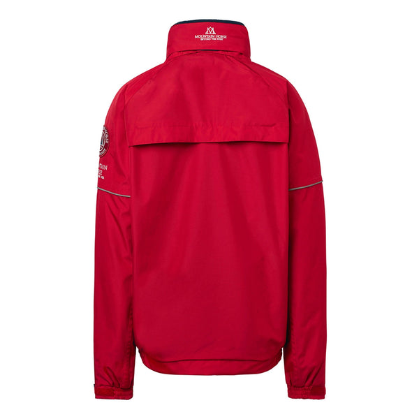 Mountain Horse Team Jacket Red Studio Rear View 03202