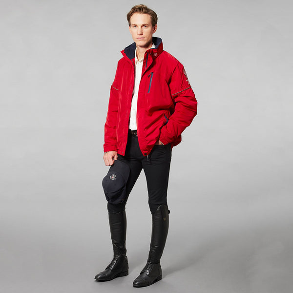 Mountain Horse Team Jacket Red Studio Male Model Full Length 03202