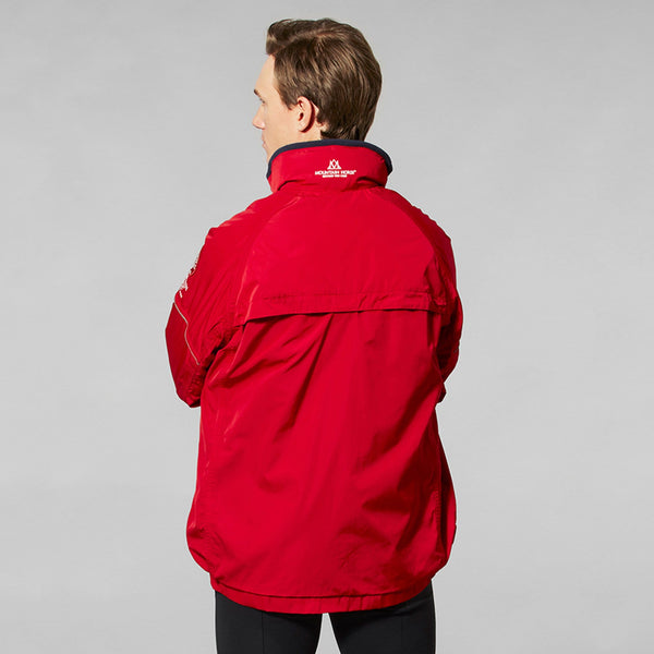 Mountain Horse Team Jacket Red Studio Male Model Rear View 03202
