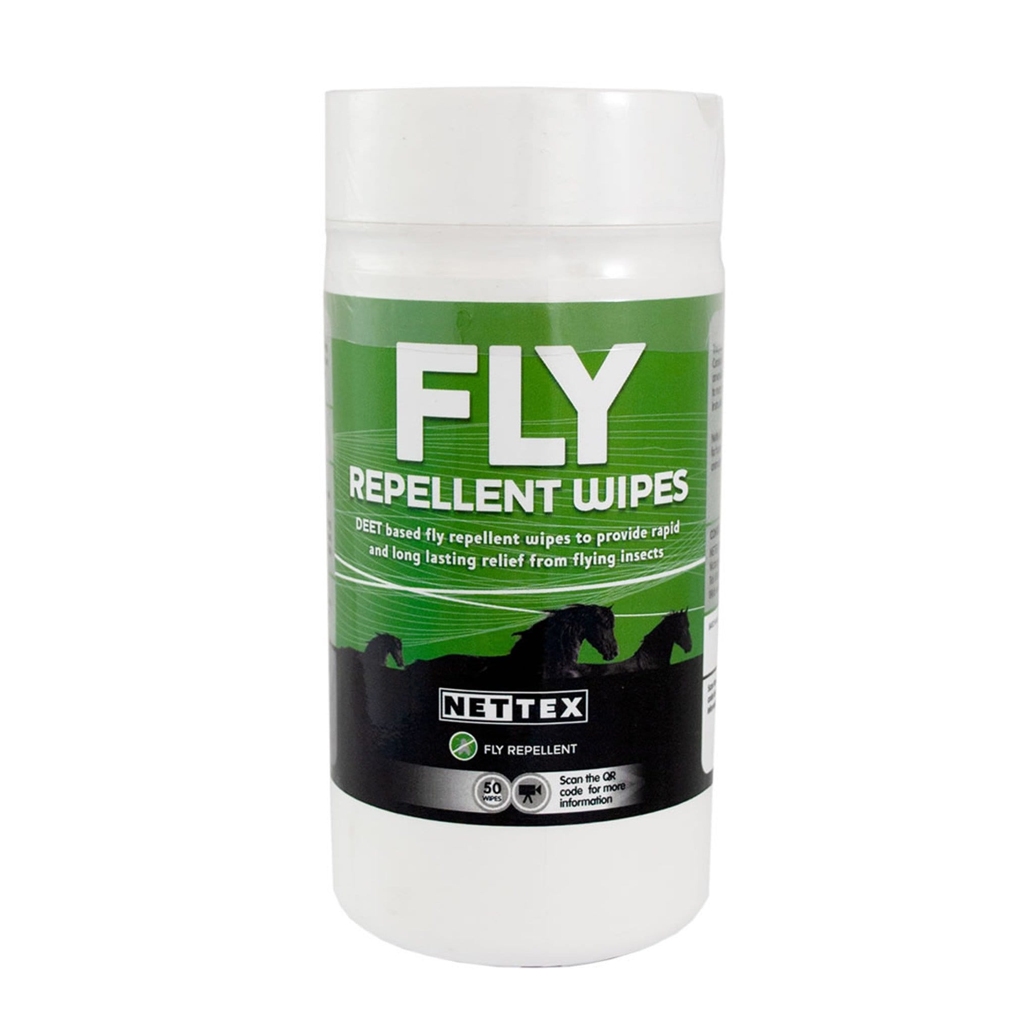 Nettex Equine Fly Repellent Wipes 50 Pack NET0070.