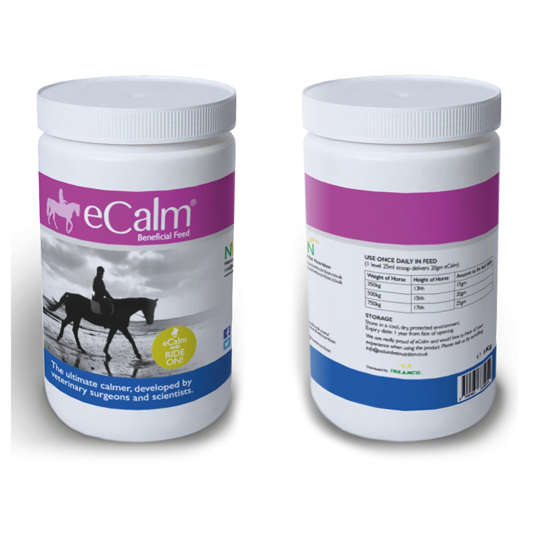 Natural Vet Nutrition Ecalm 1KG Tub NVN0010.