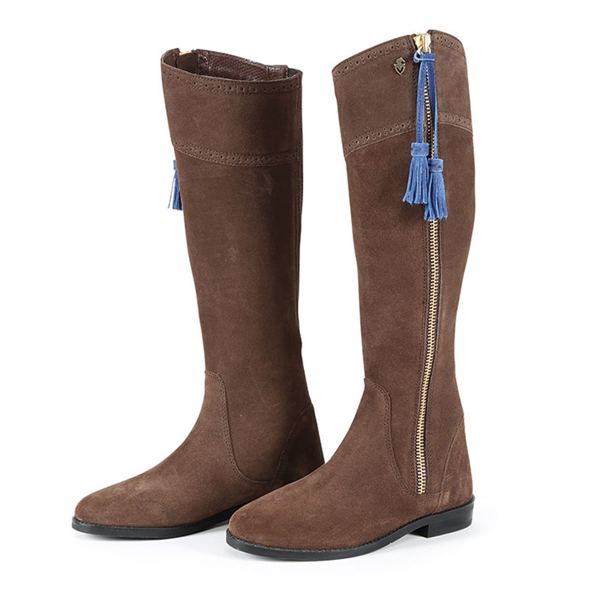 Shires Moretta Florenza Suede Boots Brown 9921.