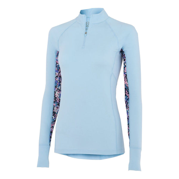 Noble Outfitters Ashley Long Sleeved Riding Top Powder Blue 21505