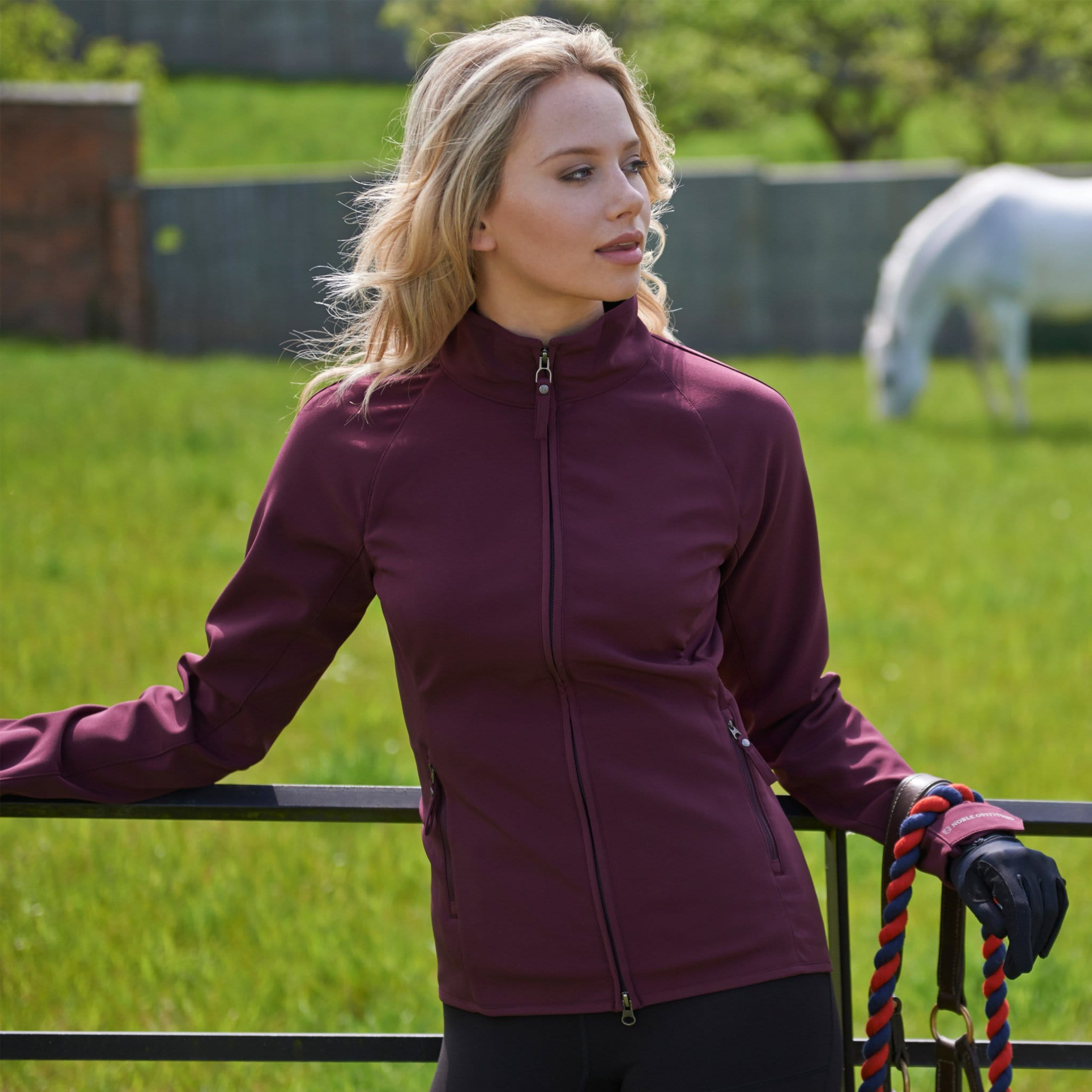 Noble Equestrian All Around Jacket Wine Lifestyle 28503