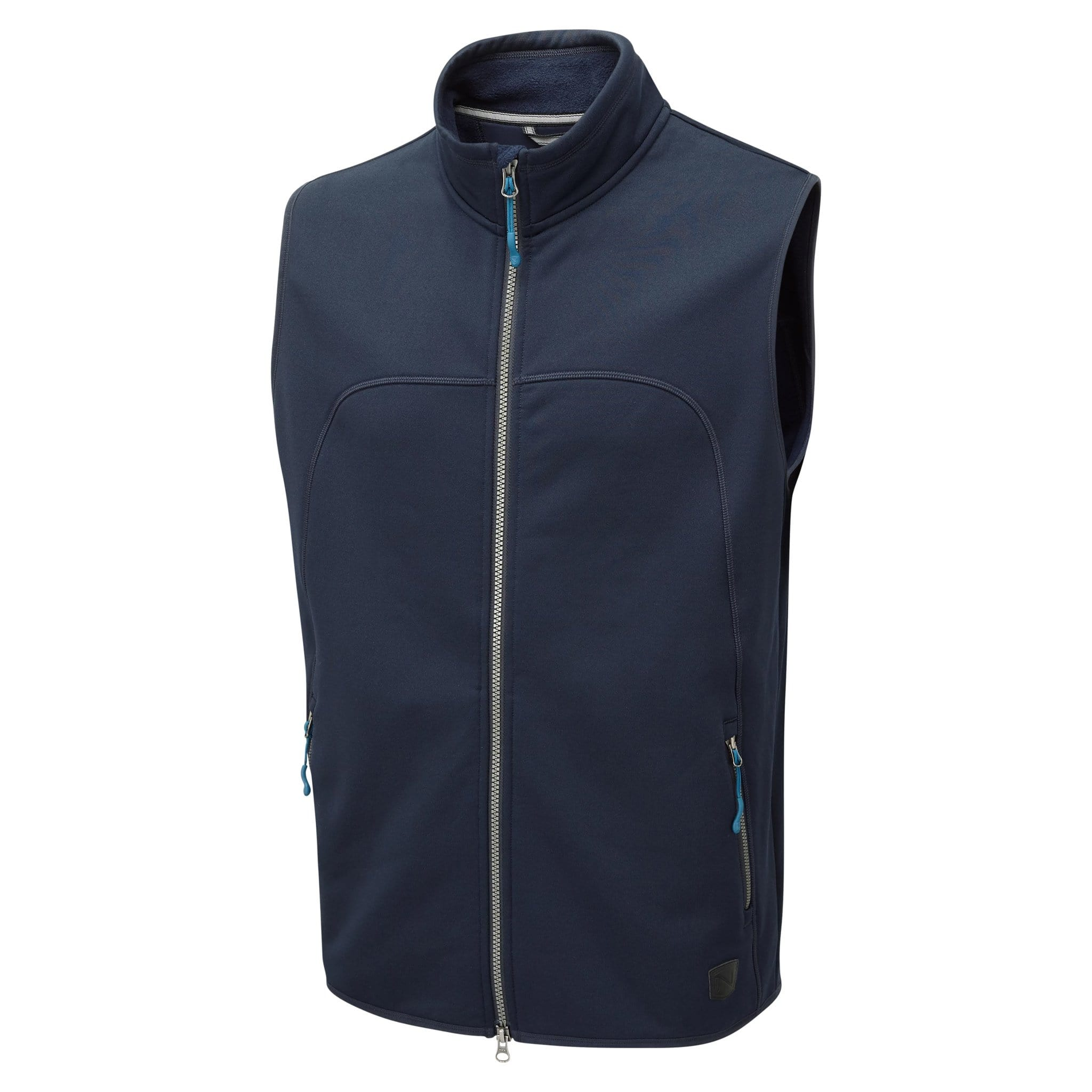 Noble Equestrian Men's Bramham Fleece Vest Navy Studio Front 18005