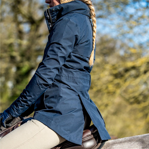 Noble Outfitters Cheval Waterproof Jacket Navy On Horse 28516