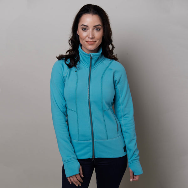 Noble Outfitters Explorer Fleece Jacket Duchess Blue on Model Front 28521
