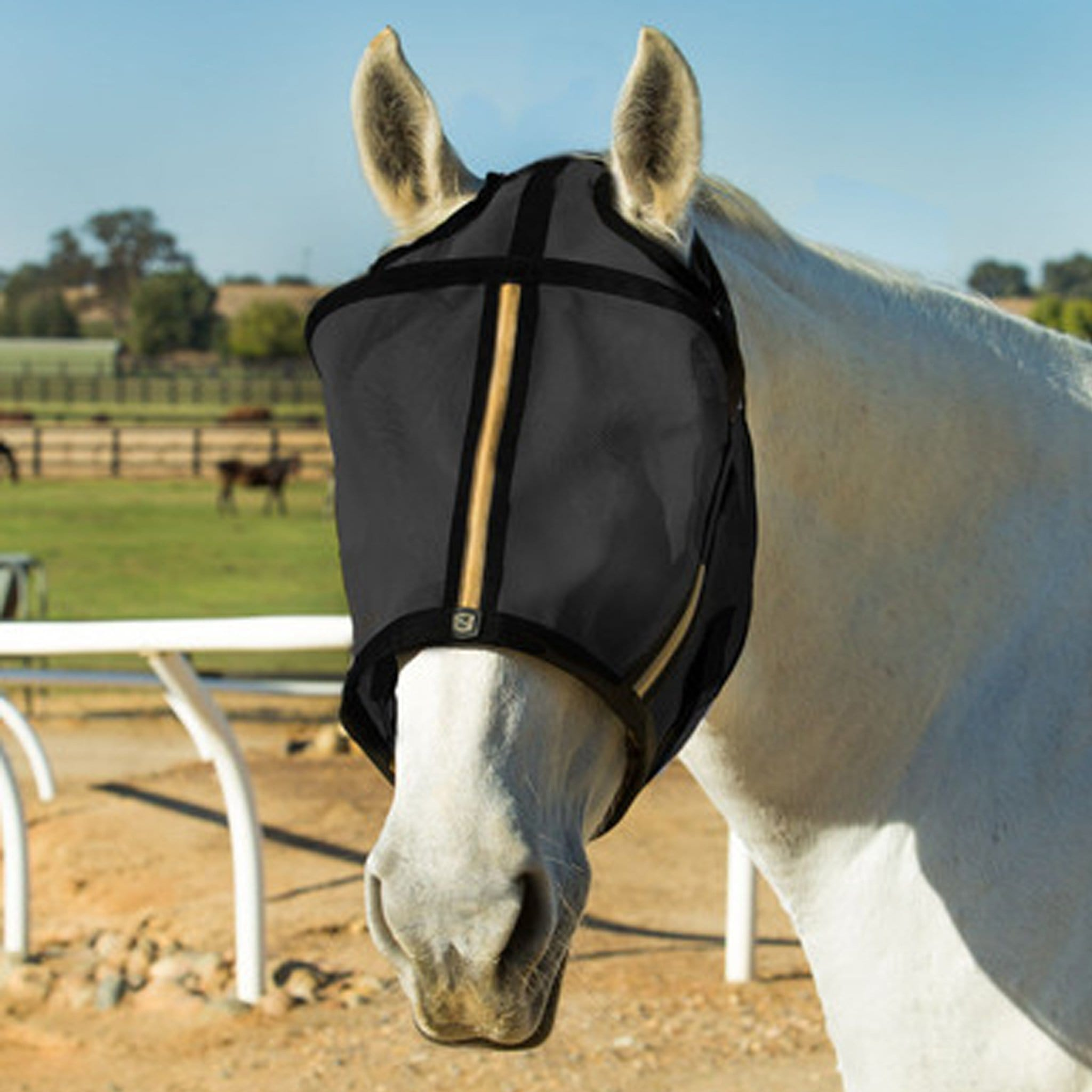 Noble Equestrian Guardsman Fly Mask No Ears Black 75000