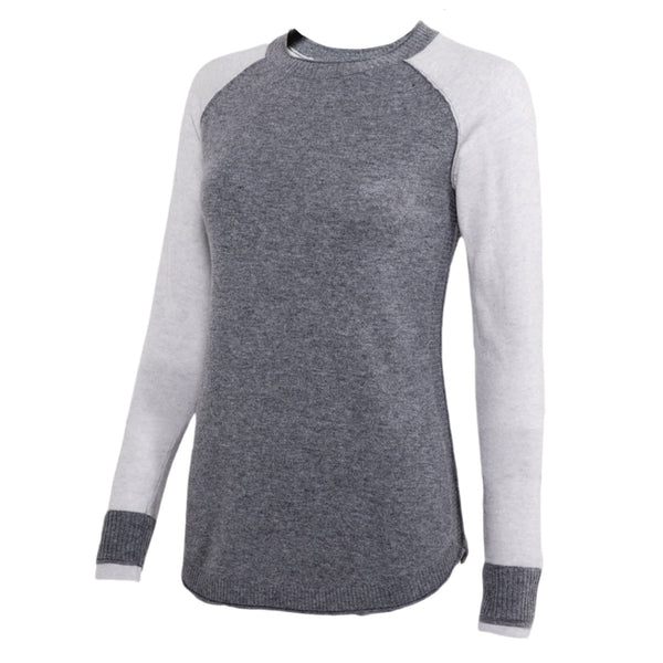 Noble Outfitters Homerun Crew Top Oatmeal Grey Studio 27003