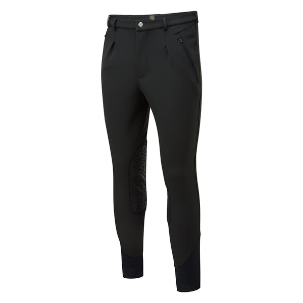 Noble Outfitters Men's Softshell Breeches Black Studio Front View 18401