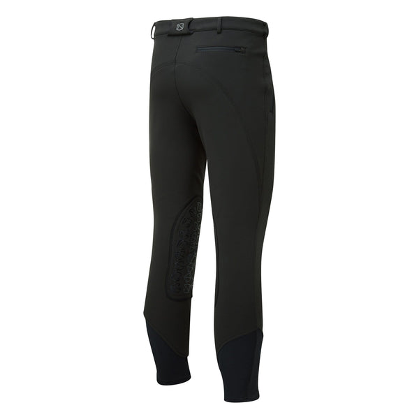 Noble Outfitters Men's Softshell Breeches Black Studio Rear View 18401