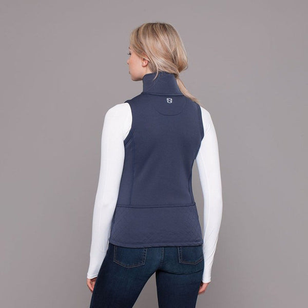 Noble Outfitters Premier Fleece Vest Navy On Model Rear View 28011