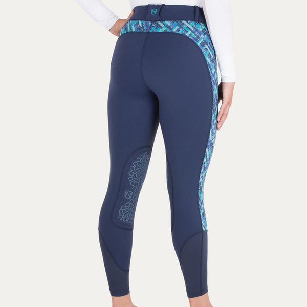 Noble Outfitters Printed Balance Riding Tight Navy On Model Rear View 24004