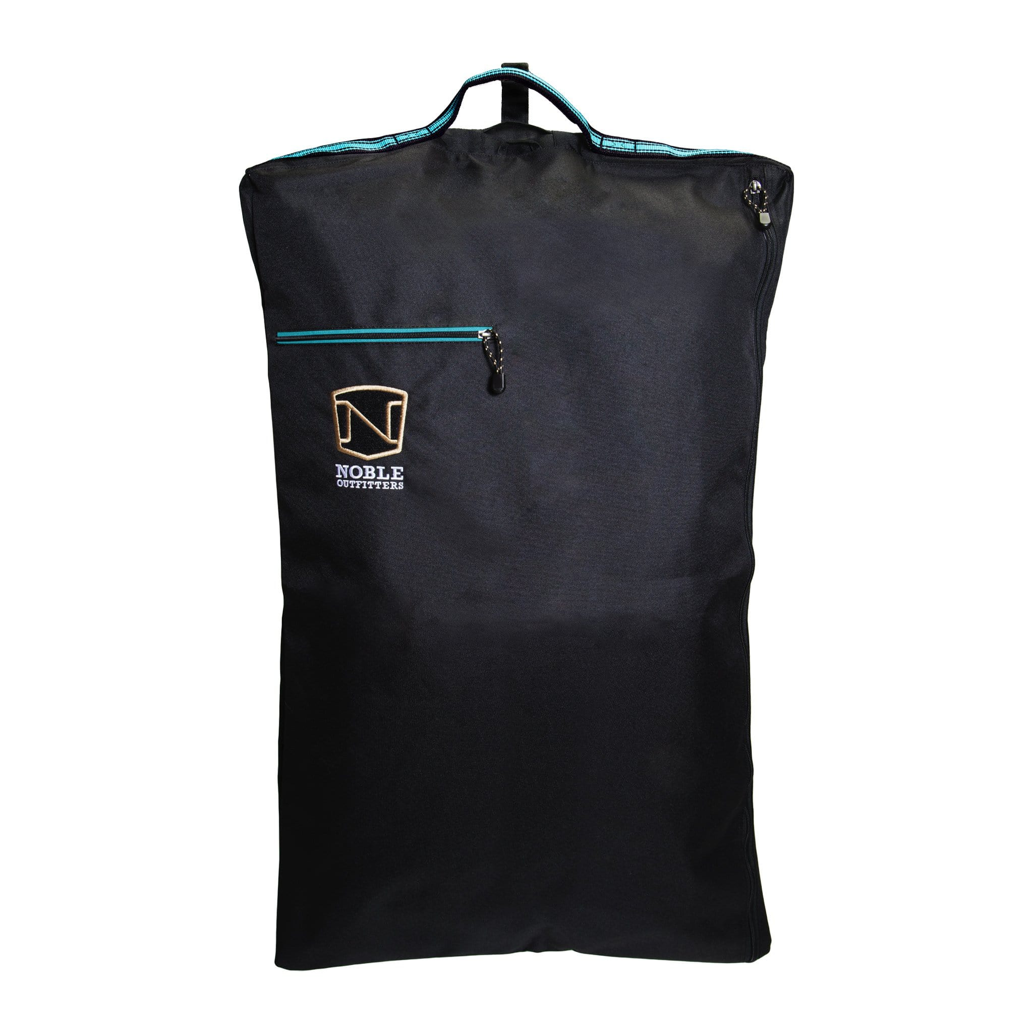 Noble Equestrian Show Ready Garment Bag 80007 Black and Deep Turquoise
