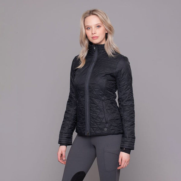 Noble Outfitters Warmup Quilted Jacket Black on Model 28508