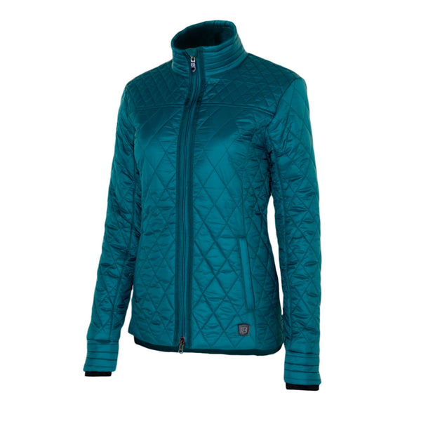 Noble Outfitters Warmup Quilted Jacket Deep Teal Studio 28508