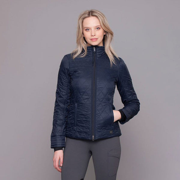 Noble Outfitters Warmup Quilted Jacket Navy on Model 28508
