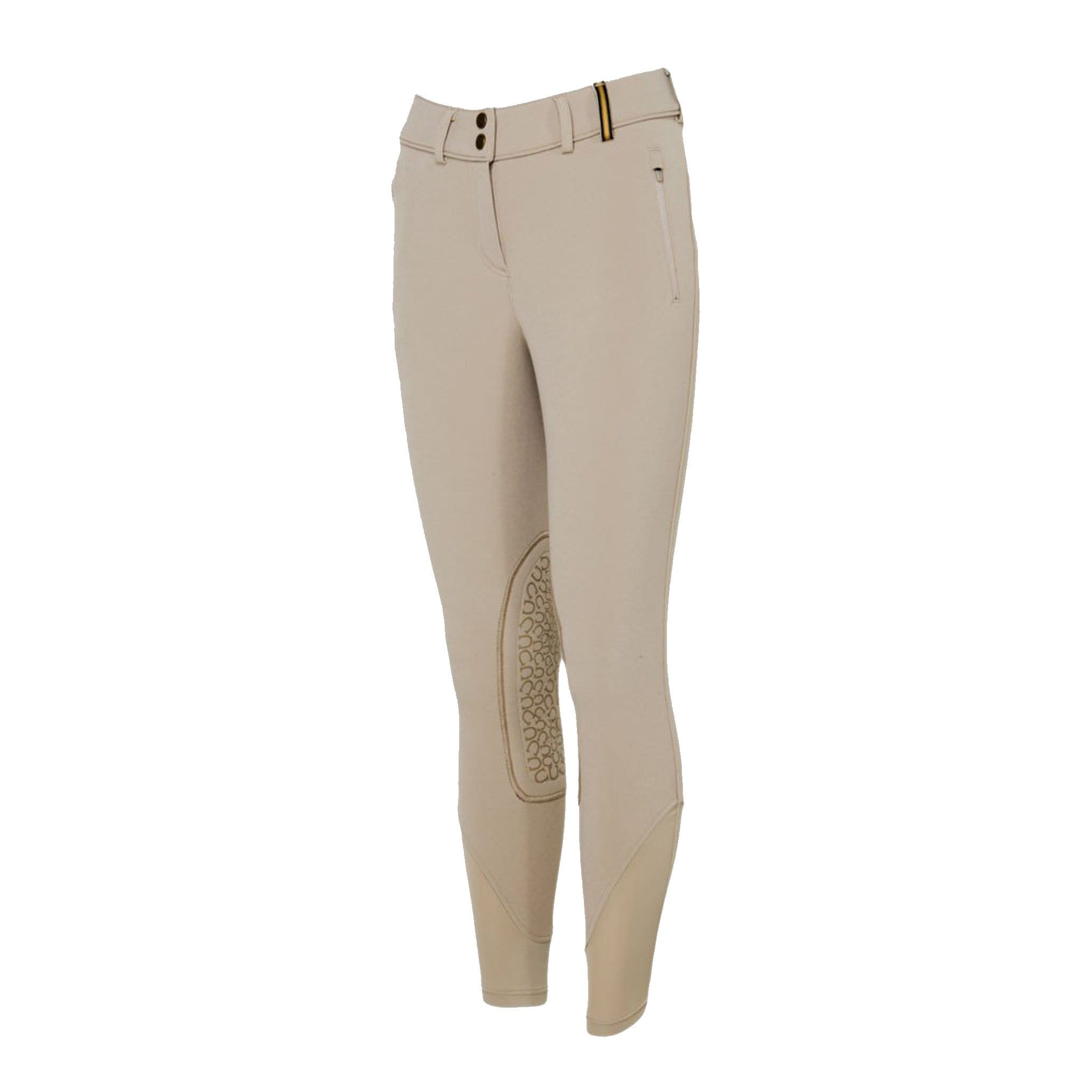 Noble Equestrian Winter Softshell Riding Breeches Beige Studio 24009