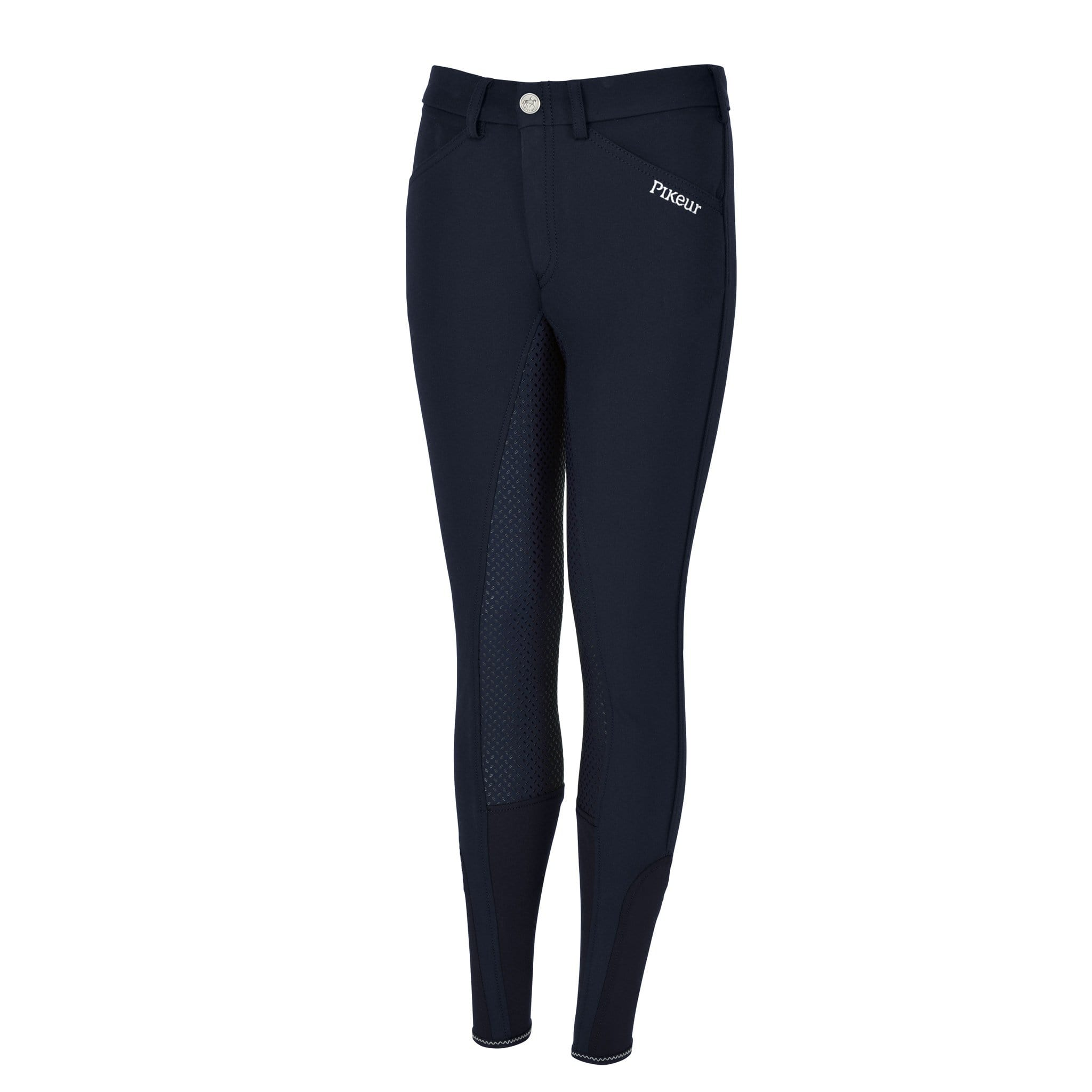 Pikeur Braddy Girls Grip Full Seat Breeches Nightblue Front View 149706