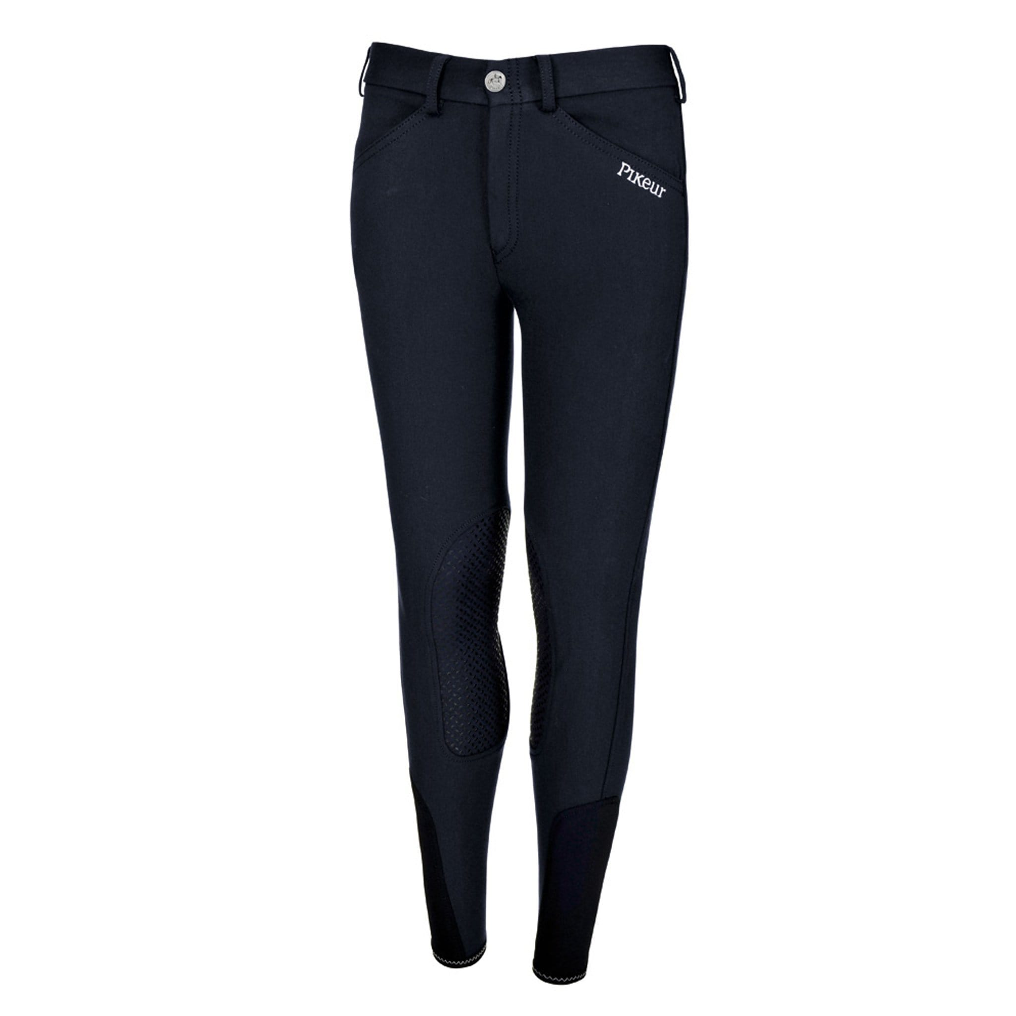 Pikeur Brooklyn Girls Grip Seat Breeches Nightblue Front 149704