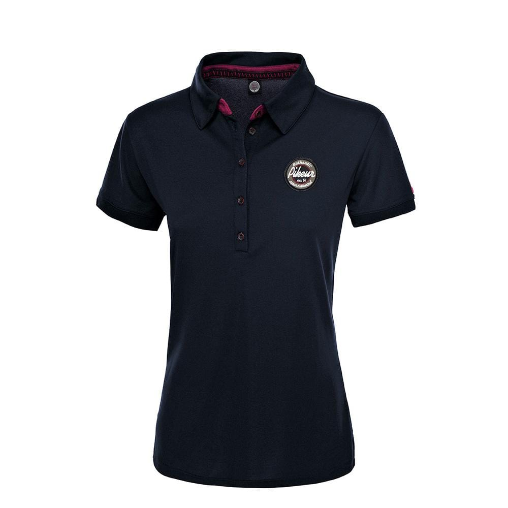 Pikeur Dasha Short Sleeved Polo Shirt Navy 12000-2044