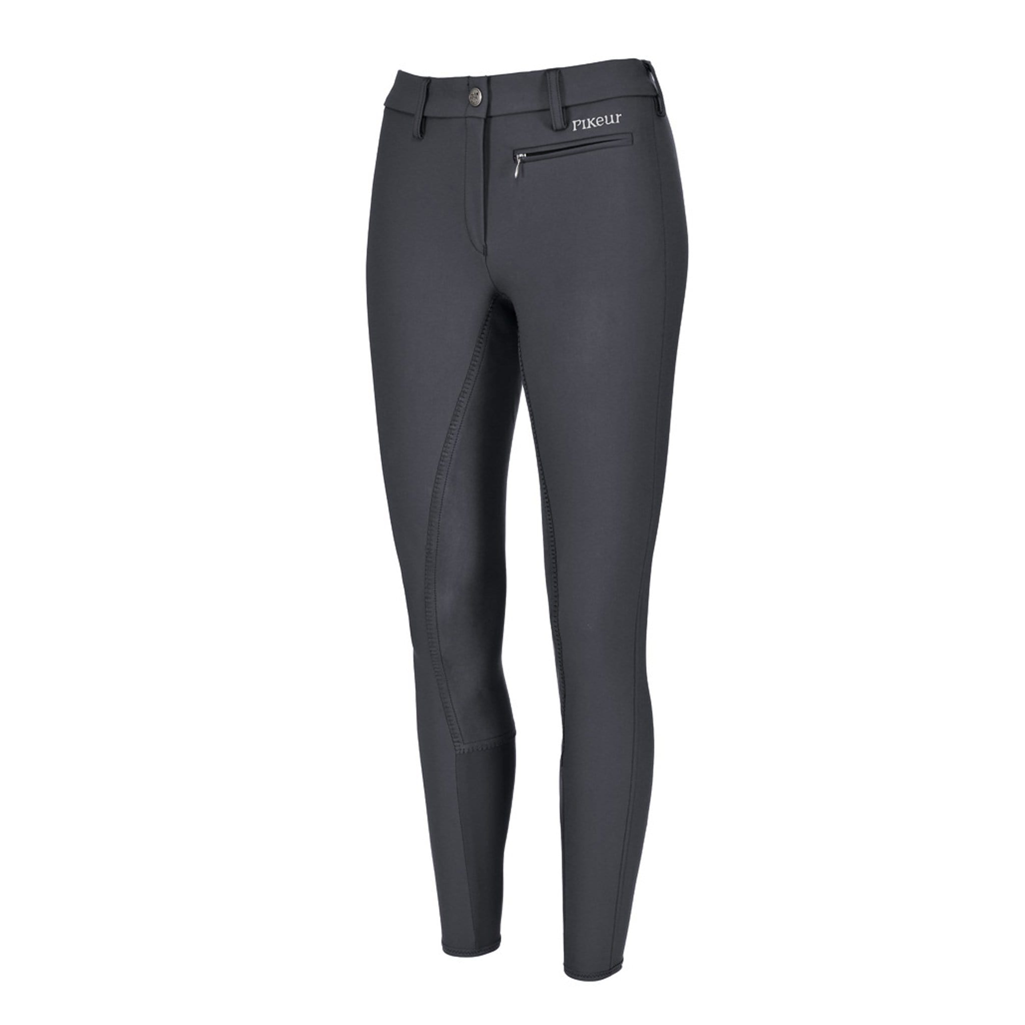 Pikeur Lugana Stretch Alos Full Seat Breeches Dark Shadow Front 140607