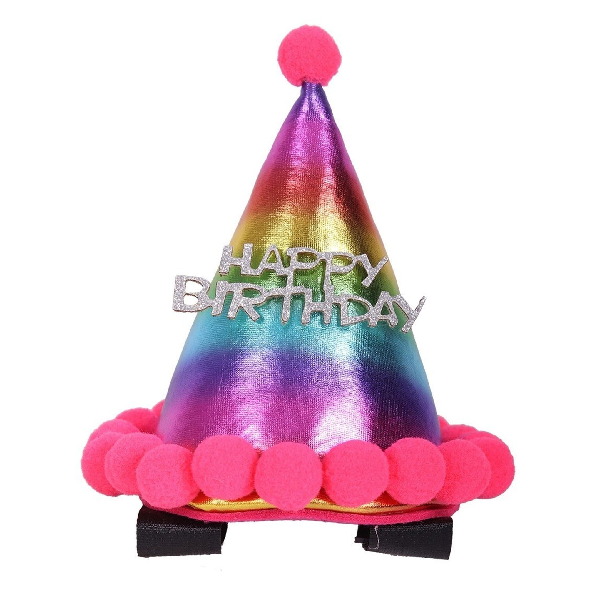 QHP Horse Birthday Hat Rainbow 8454.