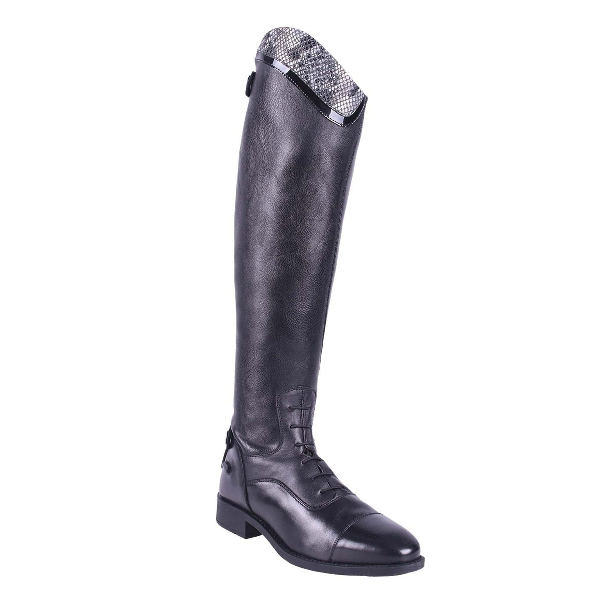 QHP Birgit Snake Riding Boot Black 7227