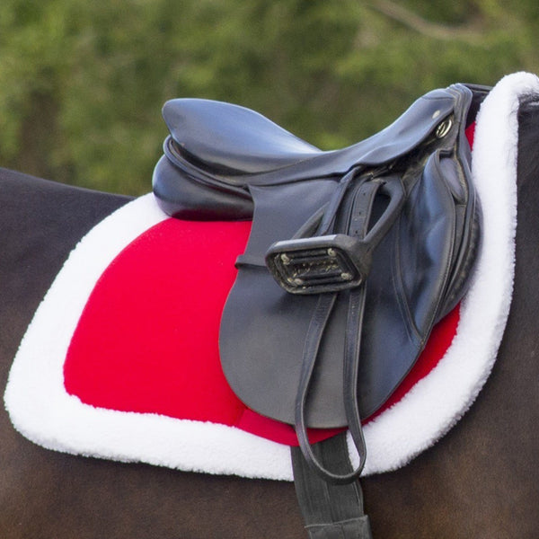 QHP Christmas Saddle Pad in Red 3059