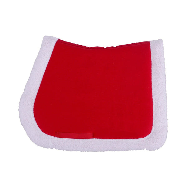 QHP Christmas Saddle Pad Studio in Red 3059