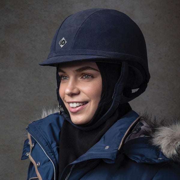 Equetech Riding Hat Thermal Liner worn by Rider RHL