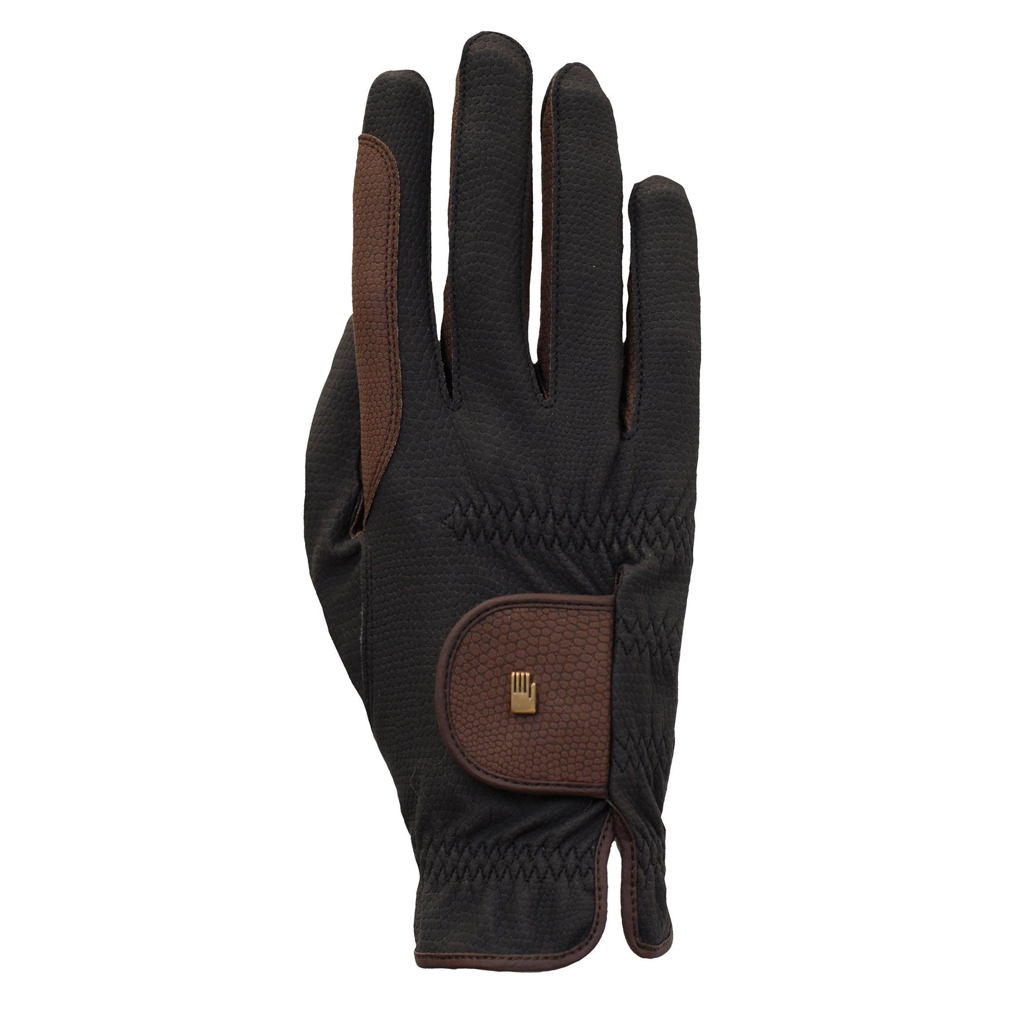 Roeckl Malta Winter Gloves 3301-545-079 Black and Mocha Back View