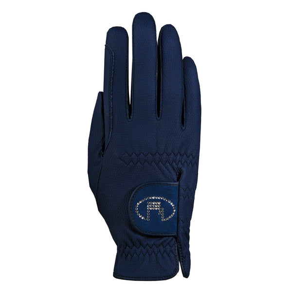 Roeckl Chester Bling Gloves Navy 3301-308-590