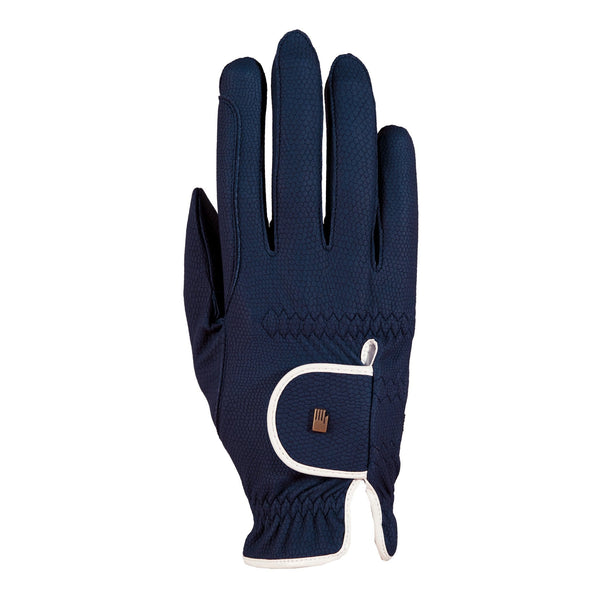 Roeckl Lona Gloves Navy and White 3301-336-591