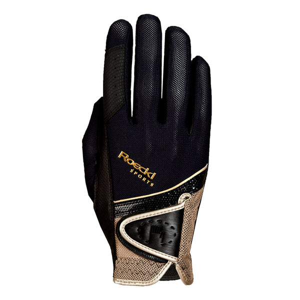 Roeckl London Gloves Black and Gold 3301-249-091
