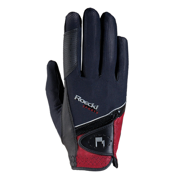 Roeckl London Gloves Black and Red 3301-249-004